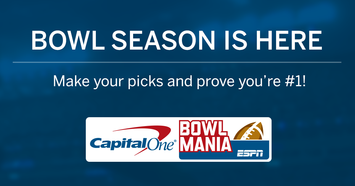 picture about College Football Bowl Pick'em Printable Sheets called Money A person Bowl Mania - ESPN