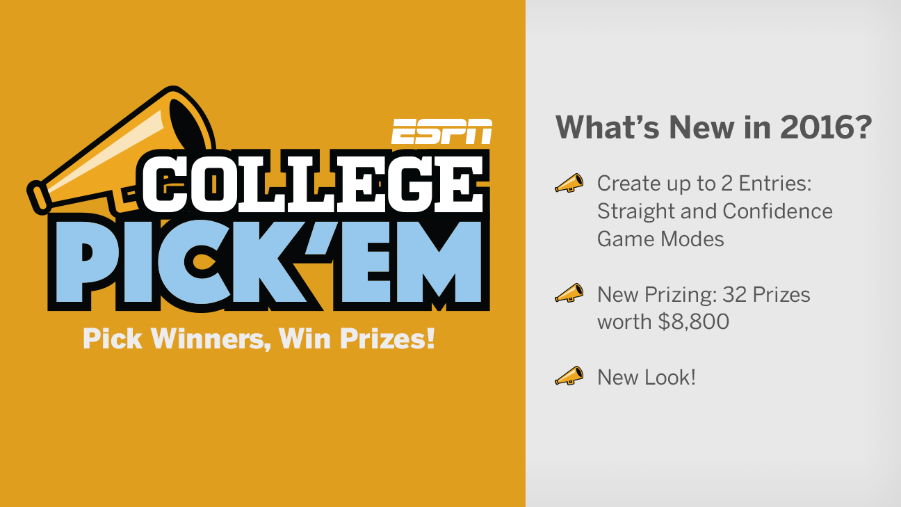 college pick em espn this game challenges you to select the winn welcome to espn college pick em