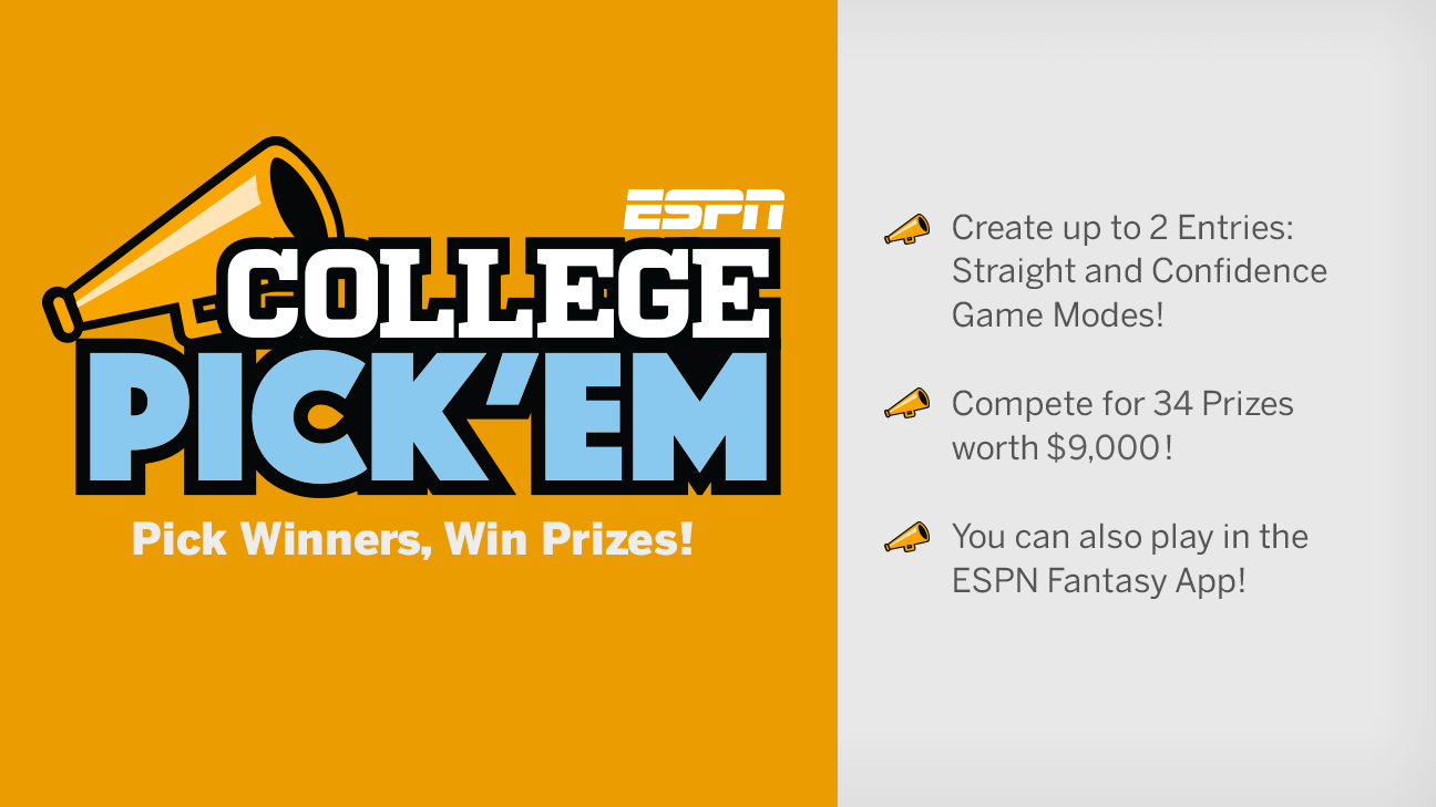 picture about College Football Pick Em Printable Sheets referred to as School Pickem - ESPN