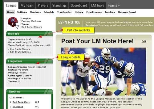 Rules: Autopick Draft - ESPN