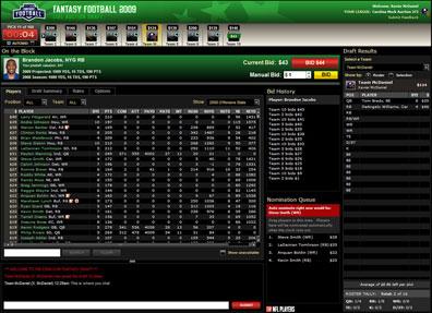 Auction Draft Screenshot